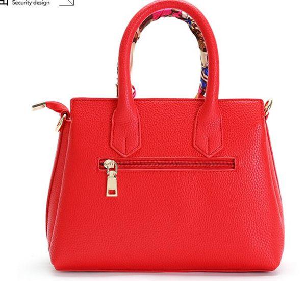 2017 new Handbag Shoulder Bag Fashion Ladies Handbag Red Wedding Bride platinum package bag