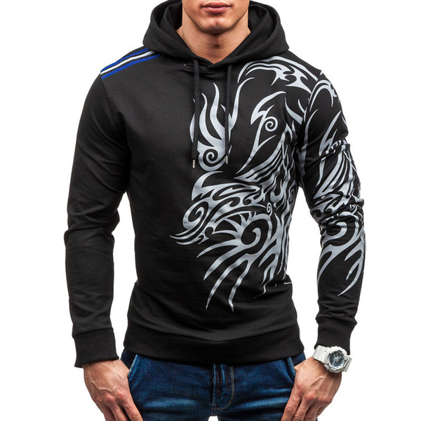 Wholesale- 2017 Hoodies Men Hombre Hip Hop Mens Brand Letter Hooded Zipper Hoodie Sweatshirt Slim Fit Men Hoody Large Size 3XL
