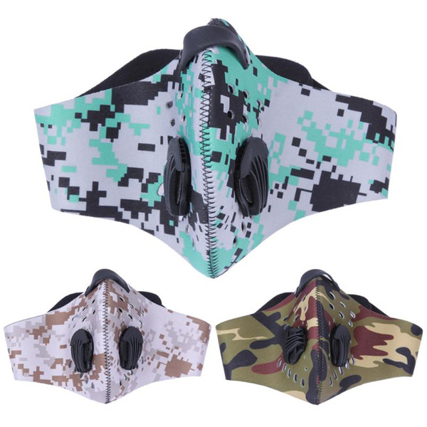 Wholesale- Bicycle mask Women/Men Outdoor Sports cycling Face Mask Filter Air Pollutant for bike Riding Traveling Dustproof Mouth-muffle