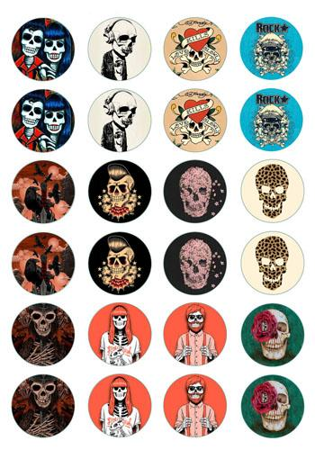 best selling Free Shipping DIY Jewelry Findings,New Arrival Skull Glass Stone Buttons Skull Buttons for Snap Bracelet Earrings Necklace Ring Jewelry