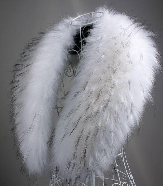 Wholesale-2015 autumn and Winter womens faux raccoon fur rabbit fox fur scarf big shawl clothing fur collar cape pashina winter scarf 90cm