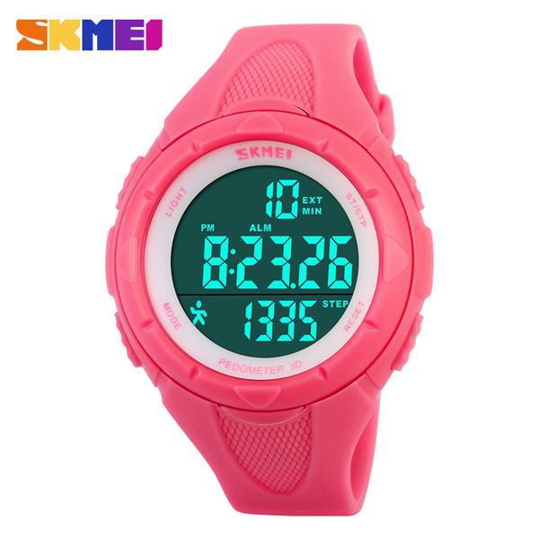 Al por mayor-Moda Podómetro Digital Watch Fitness para hombres Mujeres Vestido al aire libre Relojes de pulsera Skmei Relojes deportivos