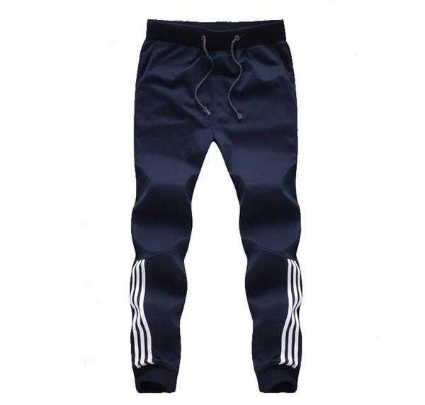 Wholesale- 2017 New Fashion Tracksuit Bottoms Mens Pants Cotton Sweatpants Mens Joggers Striped Pants Gyms Clothing Plus Size 5XL