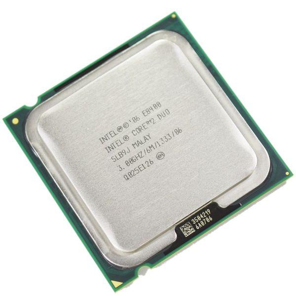 Processore Intel Core 2 Duo E8400 al 100% Processore 3.0GHz 6M 1333MHz CPU dual-core socket 775