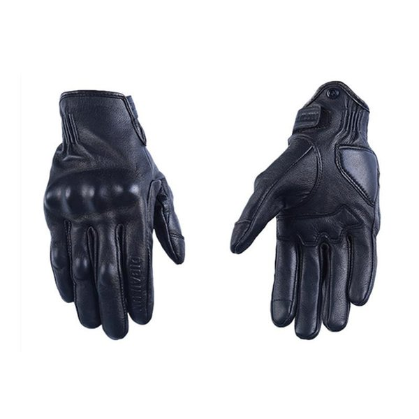 Wholesale- Men Motorcycle Gloves Woman leather Motocross Gloves Summer Perforated Cycling Racing Luvas Touch screen Motorbike Moto Guantes