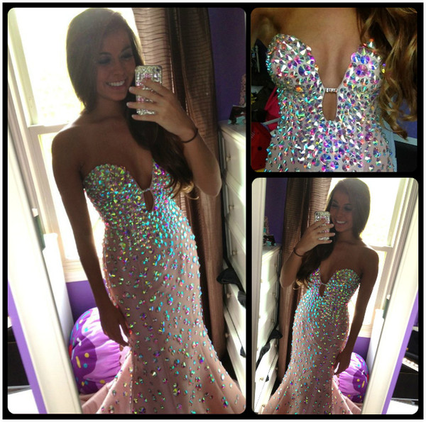Gorgeous Designer Prom Dresses Mermaid Sexy Pink Sweetheart Long Wedding Evening Gowns With Beaded Formal Dress Party Online