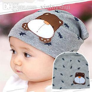 Wholesale-Winter ear protector knitted hats for boy/girl/kits hats,infants caps beanine chilldren-Dot turtleneck 1pcs/lots MC16