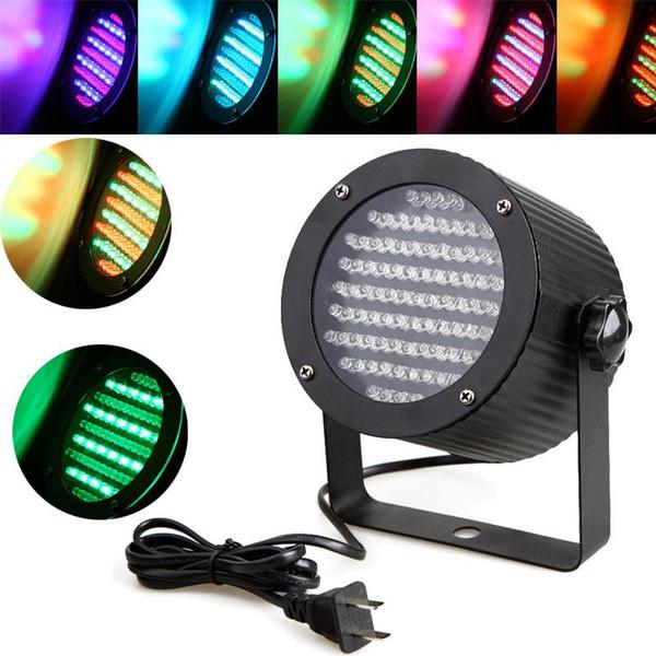 Luz de escenario profesional 25W 86 RGB LED de luz 4 canales DMX512 Control Proyector láser DJ Party Disco Luz de escenario Enchufe de EE. UU. Iluminación láser