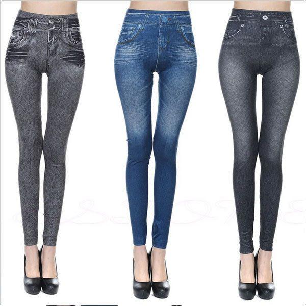 top popular Fitness Clothing for Women Jeggings Jeans for Women Seamless Slim Jeggings Printed Leggings Real Pocket Jeans Look 2019