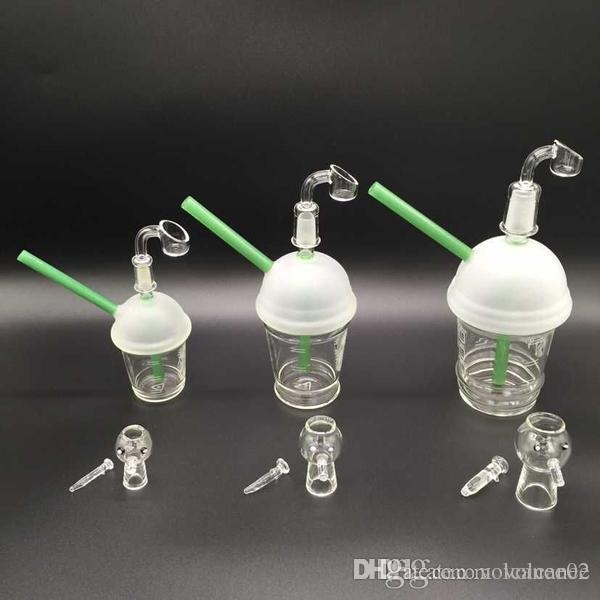 glass water pipe bongs wholesale oil rig ash dab cup joint with cup glass rig quartz banger glass dome glass nail for sale