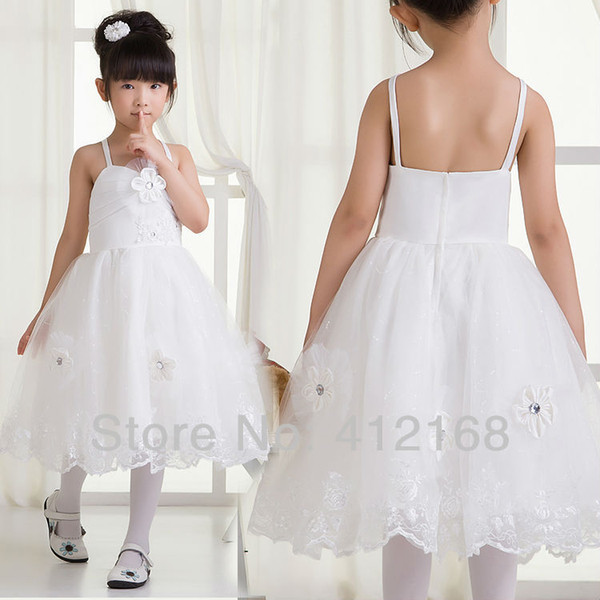 2020 Crepe Limited Sale Rushed Flower Girl Dresses For Weddings∂y Kids Fantasy Prom Pageant Cocktail Dress Evening