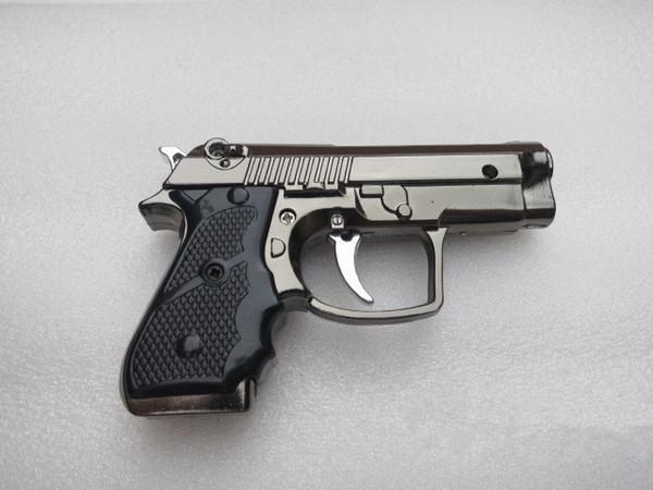 Mejor Venta Portátil de Lujo Mini Pistola En Forma de Butano Llama Gas Cigarrillo Encendedor de Venta Caliente envío libre 1314