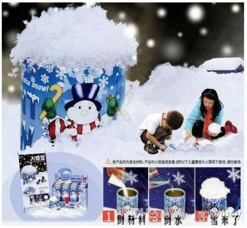 best selling Christmas Decoration Instant Snow Magic Prop DIY Instant Artificial Snow Powder Simulation Fake Snow For Night Party