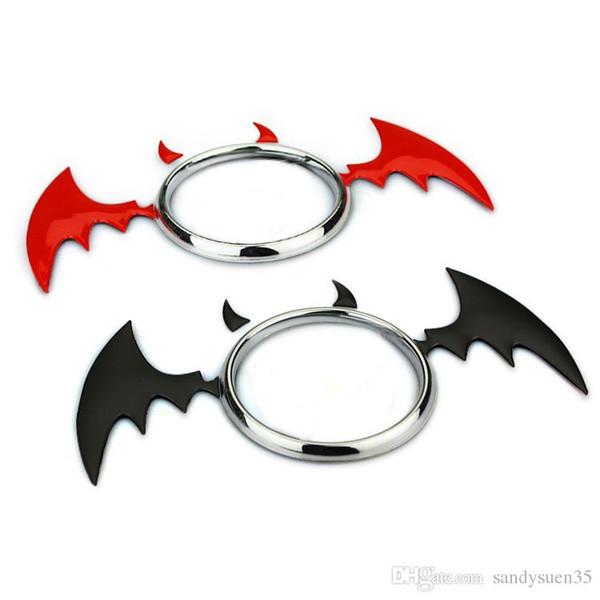 Universal Devil Demon Bat Chrome Metal Styling Car Trunk Emblem Badge Auto Exterior Stylish 3D Decoration Sticker for Any Cars