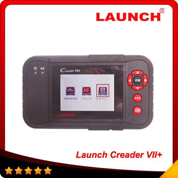 Мультибрендовые автомобили 100% оригинал Launch CreaderVII + авто сканер кода сканер та же функция с CRP123 бесплатная доставка