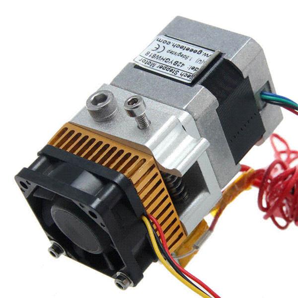 Geeetech 12V Fan 3D Printer head Makerbot 0.35mm nozzle 1.75 filament MK8 Extruder 3D Printer single exturder Free Shipping