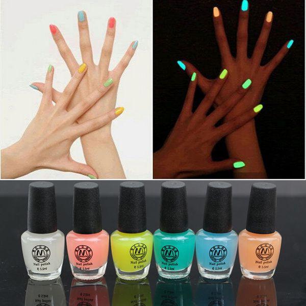 Candy Color Luminous Nail Polish Fluorescent Light Nail Art Polish ...