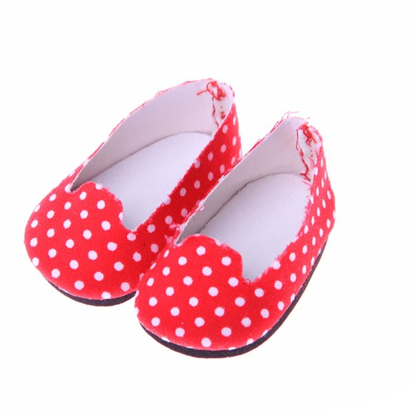 High quality handmade 6 color small leather shoes for 14.5inch American girl doll accessories Wellie Wisher
