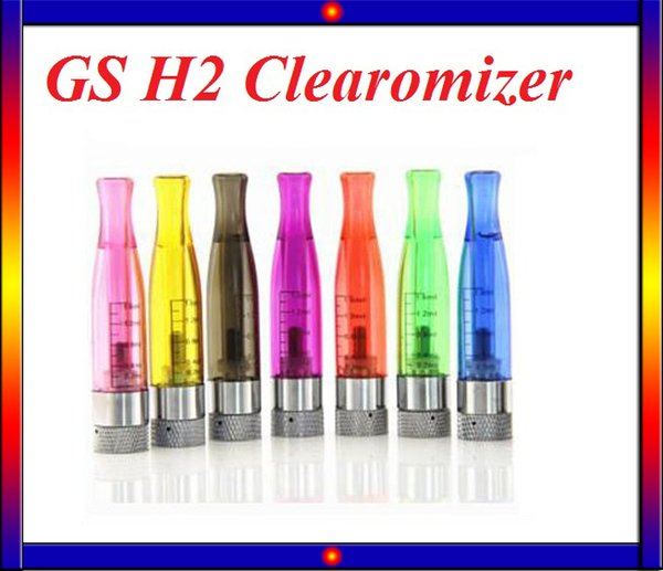 10PCS Sale!GS H2 Atomizer GS-H2 Detachable Clearomizer No Wick Replace CE4 Atomizer ego atomizer For Ego-t Battery VS C4 CE5 atomizer