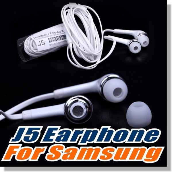 best selling For Samsung S6 earphone OEM 3.5mm Tangle Free Stereo Headset with Microphone and Volume Key For iPhone 6 - Non-Retail Packaging - White