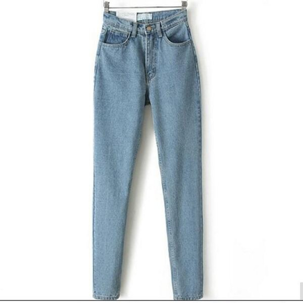 Wholesale-Denim jeans women Europe and the new Dongyu Zhou with waisted Jean Haren pants jeans