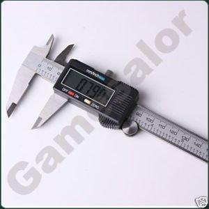 """best selling 6"""" 150 mm Digital Vernier Caliper Micrometer Guage Widescreen Electronic Accurately Measuring Stainless Steel Free Shipping"""