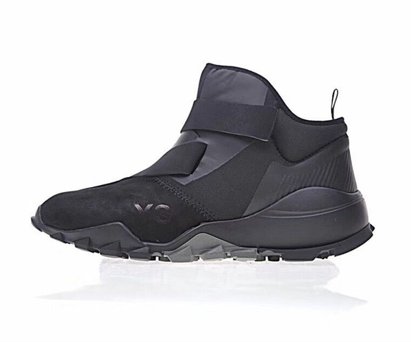 a4b1a7ae363dc 2019 High Quality Y 3 RYO CBLACK High Top Mens Sports Trainer Sneakers 2017  New Y3 Boots Shoes Size US7 11 With Box From Wenyanlv