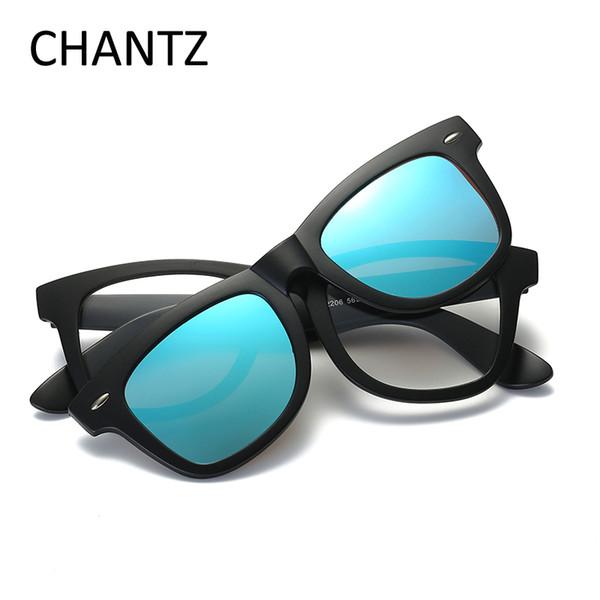Vintage amovible lunettes de soleil polarisées femmes 2017 classique marque miroir lunettes de soleil TR90 cadre UV400 Lunette Soleil Homme Femme