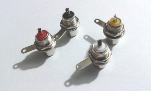 40 pz metallo RCA presa jack AV plug pannello montaggio fai da te