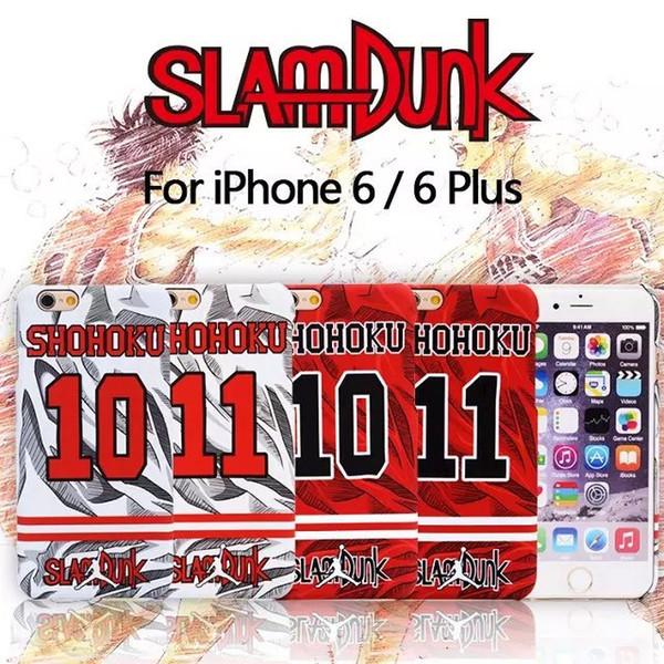 2015 Fashion Newest SlamDunk SHOHOKU Style Hot Sale Anti-Skid celular Fundas Phone Case Cover For iPhone 6 Plus Free Shipping