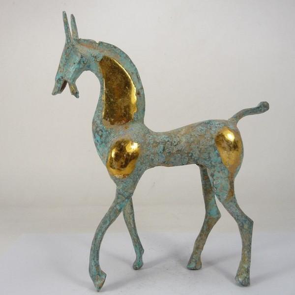 Atacado Barato china collectible handwork bonito belo cavalo de cobre estátua decoração CP42C16