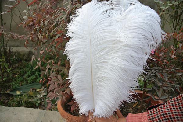 FREIES VERSCHIFFEN 100 PC / Los 16-18inch (35-40cm) weiße Strauß-Feder plumes für festlichen Dekor des Hochzeitsmittelstückhochzeits-Partyereignis-Dekors