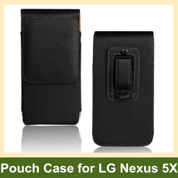 Wholesale New Belt Clip PU Leather Vertical Flip Cover Pouch Case for LG Nexus 5X H791 H790 Free Shipping