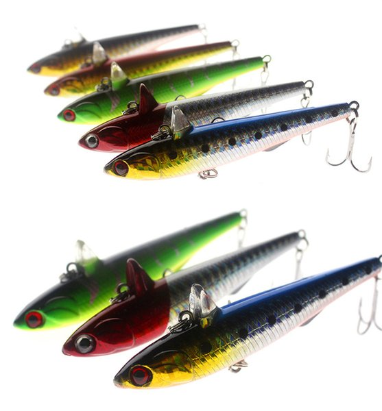 One Horn Artificial fish Pencil fishing lures hooks 9cm 14.5g 5colors ABS plastic Imitation Fin baits