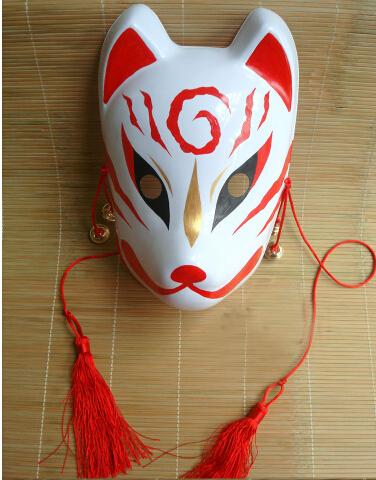 Hand- painted Fox Mask Endulge Japanese PVC Mask Full Face Halloween Masquerade Party Masks Free Shipping