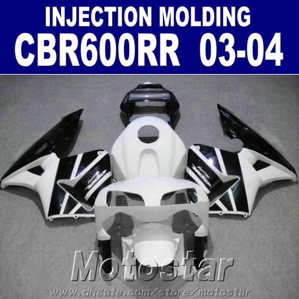 Cheap Injection Mold for HONDA fairing kits CBR 600RR 2003 2004 white cbr600rr 03 04 motorcycle body fairings AOF3