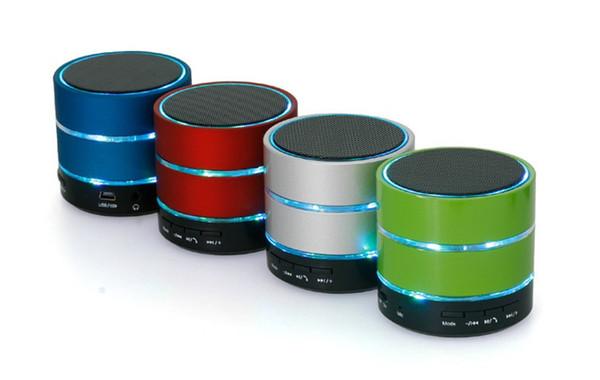 LED Speaker S09 Enhanced Speaker LED Light Ring Super Bass Metal Mini Portable Beat Hi-Fi Bluetooth Handfree 50Pcs Lot