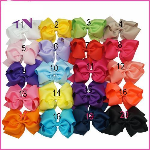 Big Hair Bows Bows Clips Foreign Trade Sweet Simple Hair Decorations For Little Girls With Grossgrain Ribbon Bowknots Hair Decorations