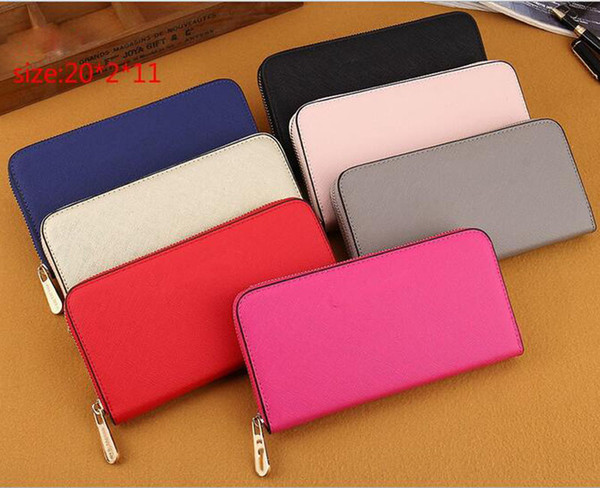 Hot! wholesalefashion single zipper cheap luxury women pu leather wallet lady ladies woman long purse free shipping
