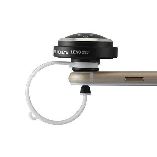 Wholesale-Detachable Clamp 235 Degree 0.4x Super Mobile Camera Fisheye Lens for Smart Phone iPhone 6 ipad Samsung Galaxy S6