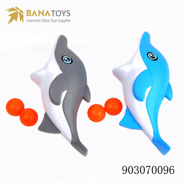 Fun water sports game catch ball toy cute 2 color dolphin toy and ball give kids the best birthday present kid bathing toys