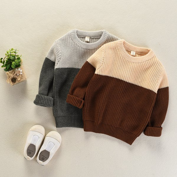 Compre Suéter De Los Niños 2017 Otoño Invierno Suéter De Cuello ...