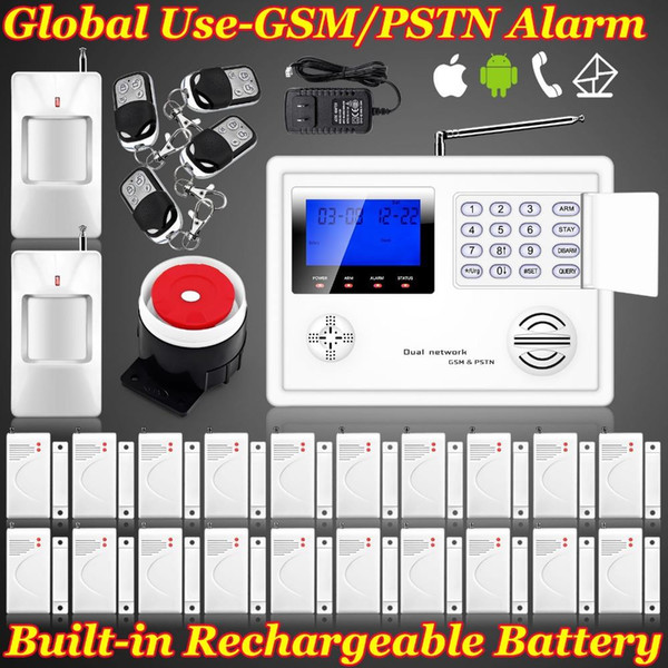 LS111- New FUERS Android IOS App controle Quad 4 bands Wireless/Wired GSM PSTN Home Protection Autodial House Intruder alarm system