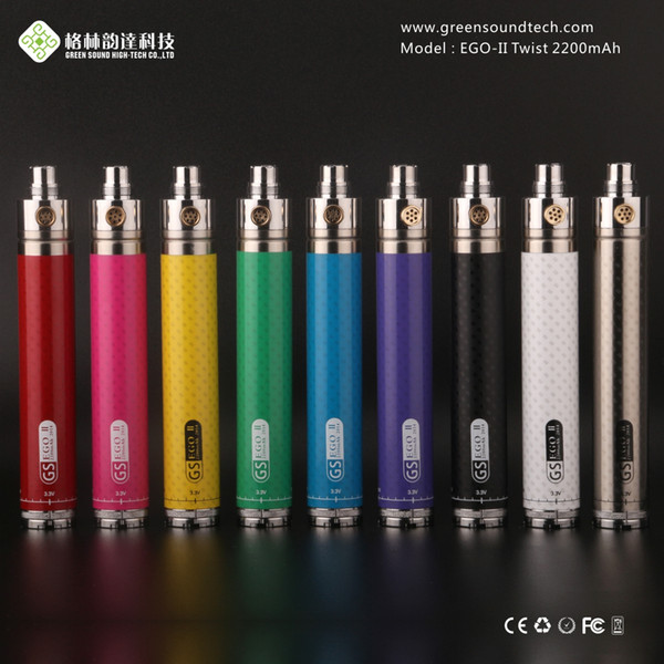 New eGo II twist vv 2200 mAh 3.3V-4.8V Variable Voltage ego 2 2200mah huge capacity battery 3200mAh e cigarettes battery