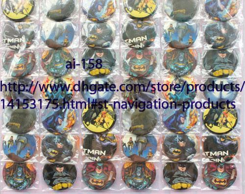 Nuovo arrivo 40 fogli 1920 pezzi all'ingrosso 4,5 cm Batman pulsanti perni distintivi favore di partito, regalo del capretto spedizione gratuita