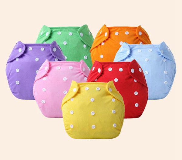 best selling 10pcs Baby Cotton water proof Soft Diaper Nappies Cover Reusable Washable Size Adjustable spring summer autumn winter button Diapers YTNK001