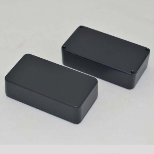 2PCS 1590B Style Aluminum Stomp Box For Guitar Effects Pedal / Black Pedal Box