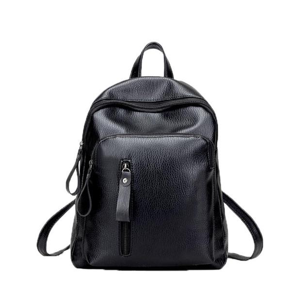 New Travel Backpack Korean Women Backpack Leisure Student Schoolbag Soft PU Leather Women Shoulder Bag Satchel Mochila