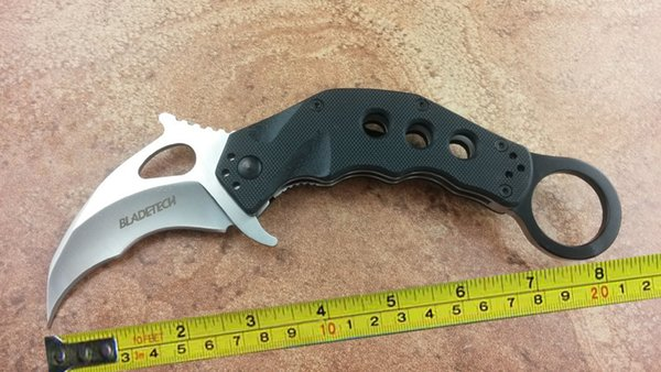 New Claw Karambit AUS-8 Blade G10 Handle Fast Open Folding Pocket Knife C02W