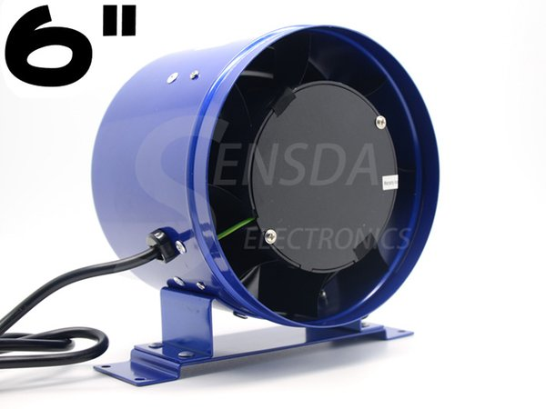"""best selling exhaust fan 6"""" 150mm Ventilation Inline duct fan Mixed Flow 300CFM 110VAC 220VAC 4200RPM Speed control centrifugal air blower"""